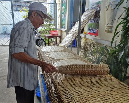 ......danach mit der Bambusrolle.....