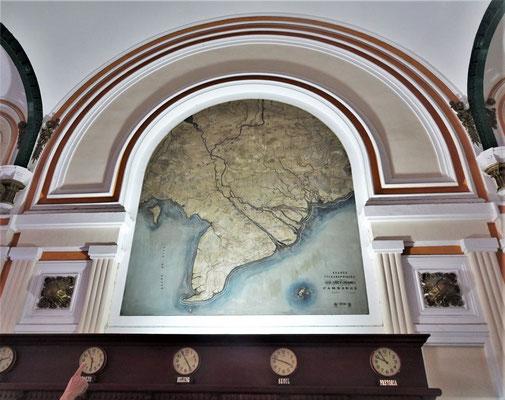 Karte mit Länder Uhren.