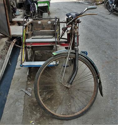 Eine Fahrradrikscha