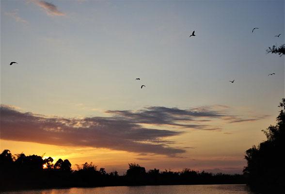 .....mit Sonnenuntergang.