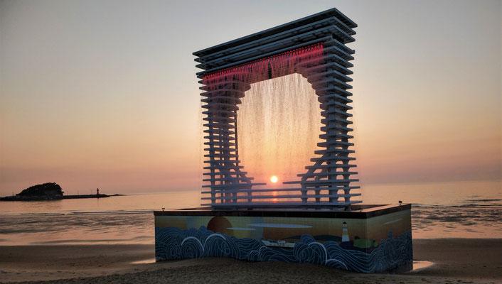 """Das """"Wasserspiel"""" am Strand....."""