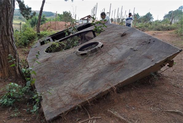 Die Reste eines Russischen Panzer.