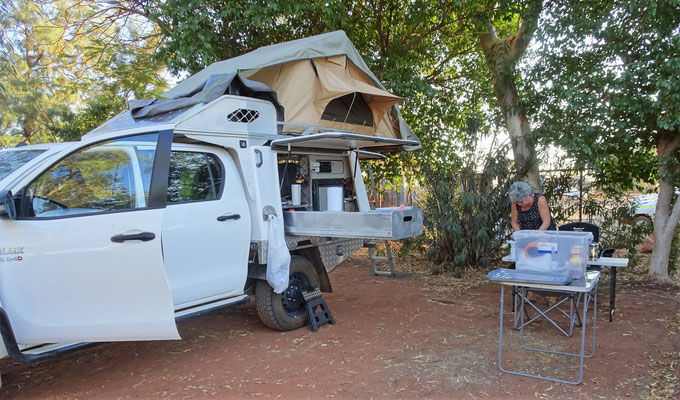 Der kleine Campground in Dampier.....