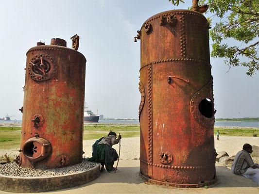 Die alten Pumpstationen...