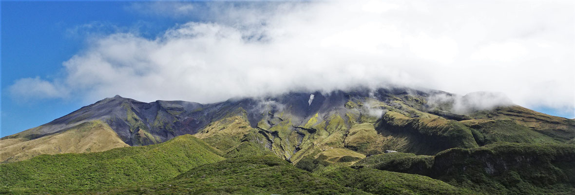 Der Vulkan Taranaki mit Nebel.....