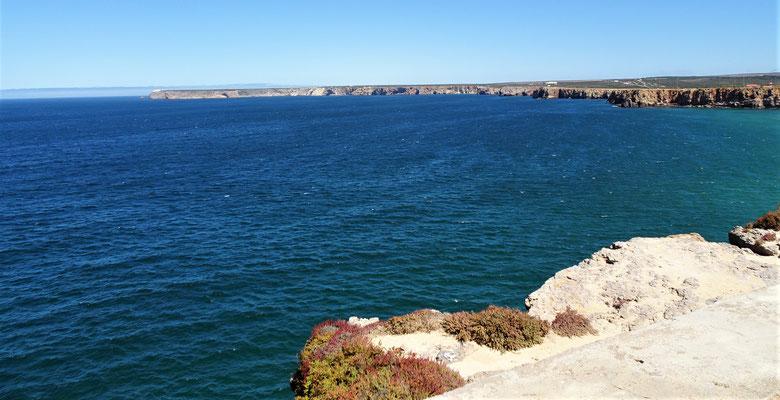 ......der Blick zum Capo Sao Vicente.