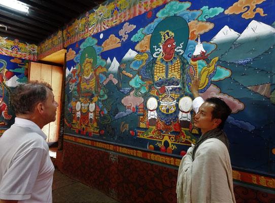 Die wunderbaren Wandmalereien...