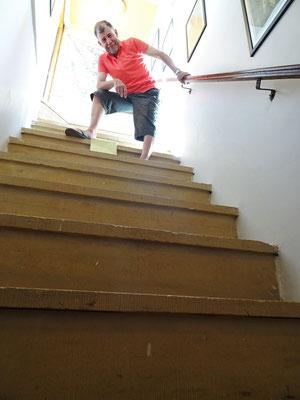 Die steile Treppe...