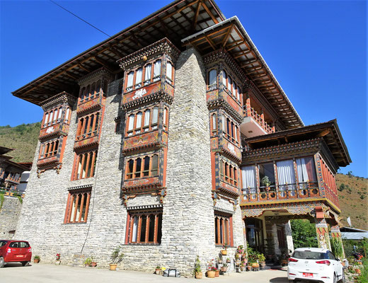 Unser Hotel Drukchen in Paro...