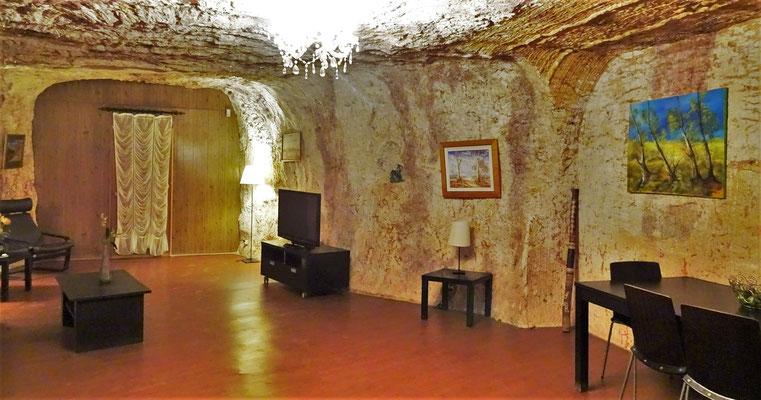 So sieht eine unterirdische Wohnung.....