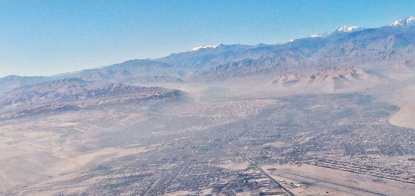 Blick von oben auf Tacna....