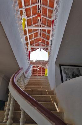 Der Aufgang zur Dachterrasse