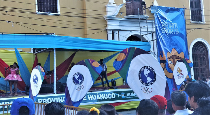 .....für den Fakeleinzug der Spiele Lima 2019.