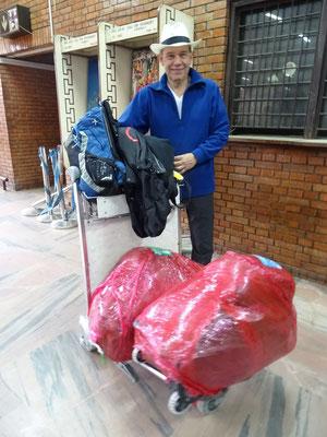 ....unser Gepäck.
