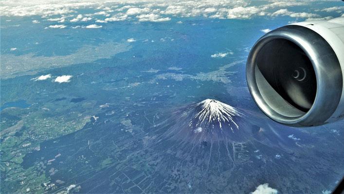 Der Fuji zeigt sich auch von der schönsten Seite.