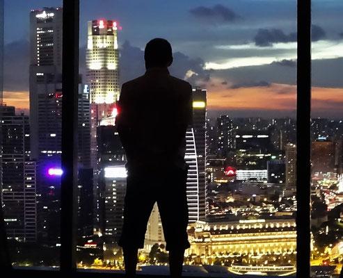 Ugo bewundert Singapur...