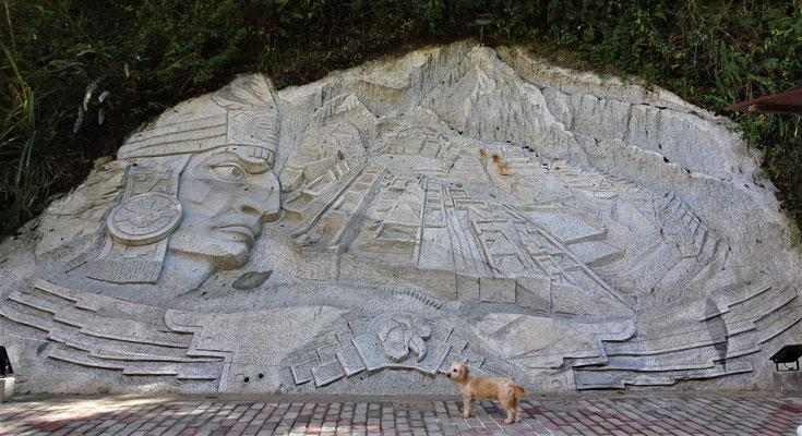 Der Grundriss von Machu Picchu.