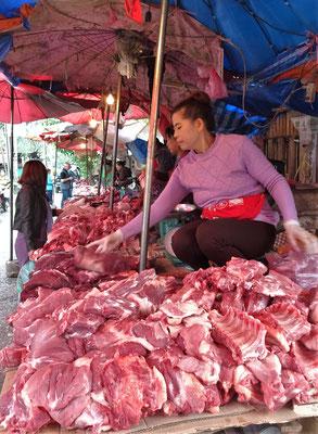Die Fleischabteilung.
