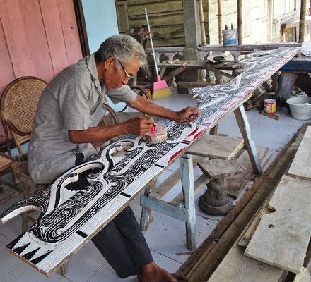Die typischen Batak Dekorationen aus Holz