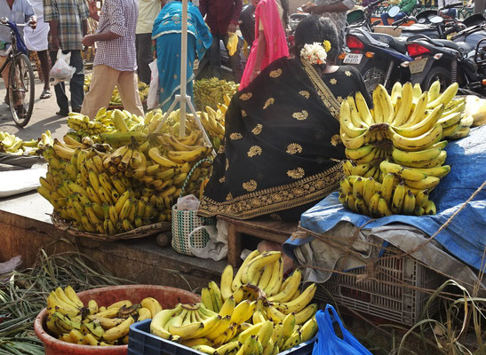 Die Bananenverkäuferin.