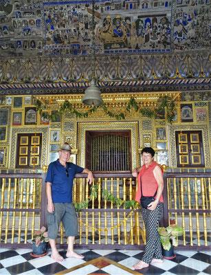 Der Tempelteil mit dem Altar...