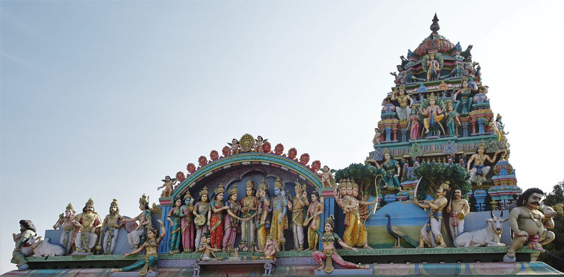 Der Sri Murugan Tempel....