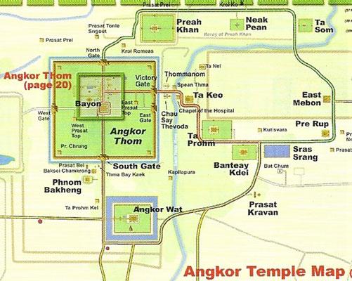 Der Übersichtsplan von Angkor.