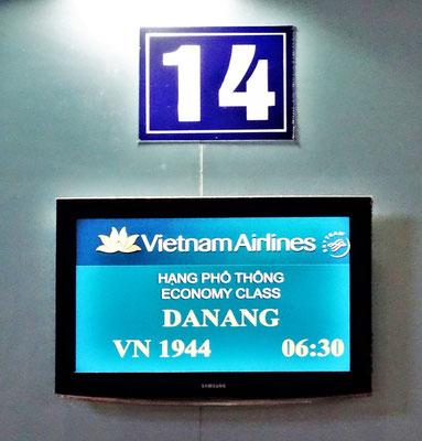 Unser früher Flug nach Da Nang