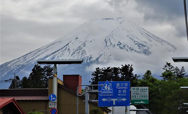 Unser erster Blick auf den Fuji.