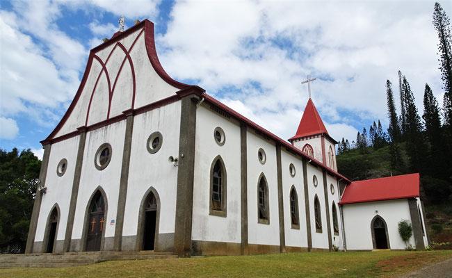 Die einzige Kirche auf der Insel......