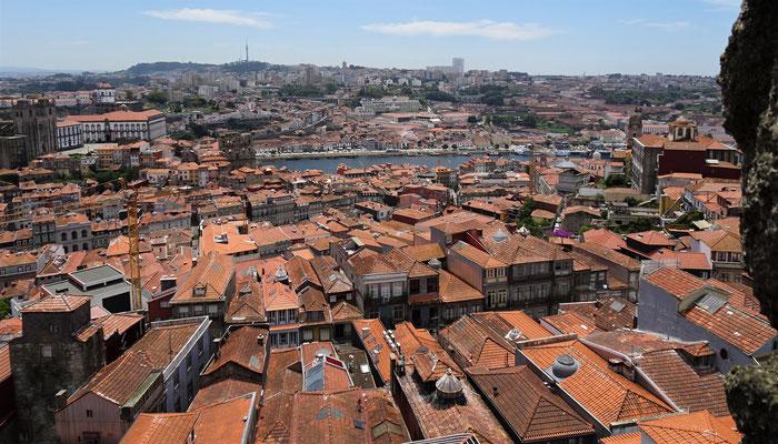 Der Rundblick über Porto.....