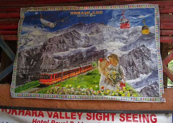 ....Schweizer Bergweltwerbung in Nepal.