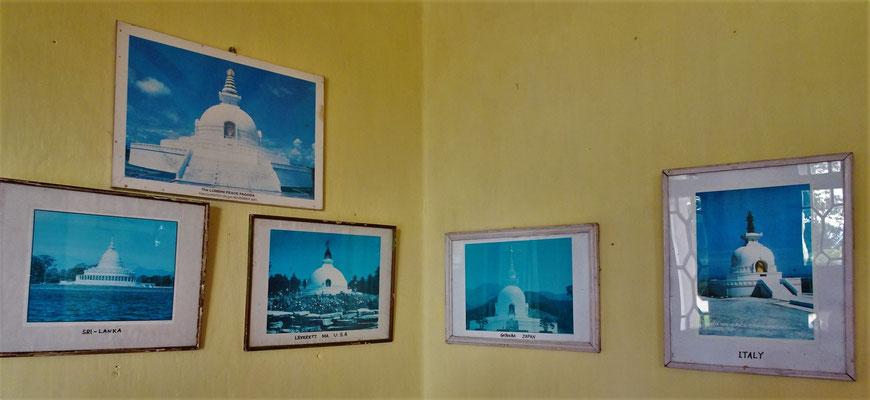Die anderen 5 Friedenspagoden (Lumbini, Nepal, haben wir gesehen)