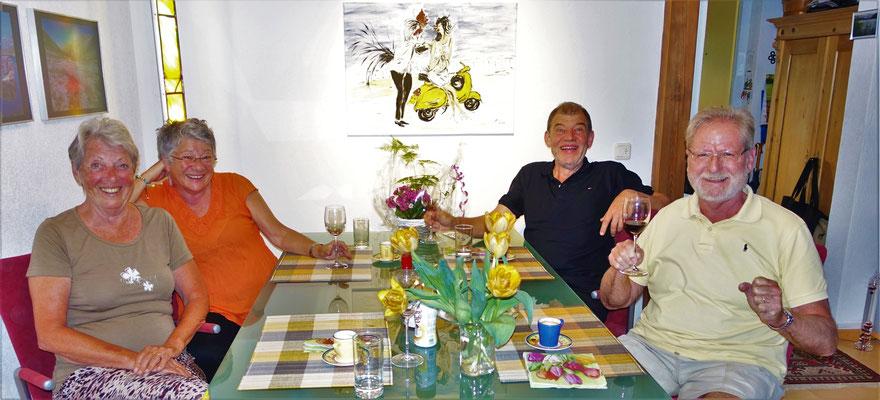 Besuch bei Brigitte und Werni.