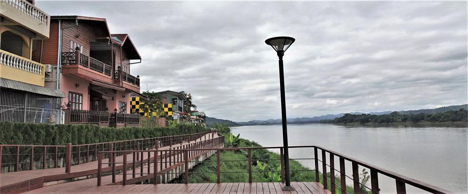 Der Blick über den Mekong....