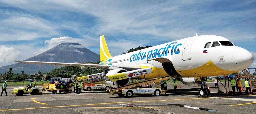 Der Flughafen von Legazpi.