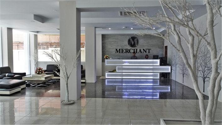 ...der modernen Lobby.