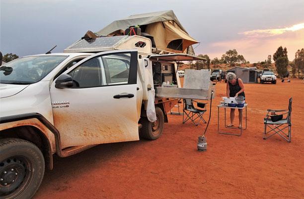 Unser NO POWER Platz beim Uluru Campground.