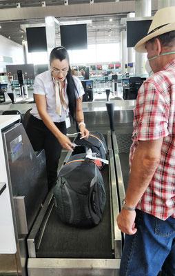 Gepäck abgeben und.....