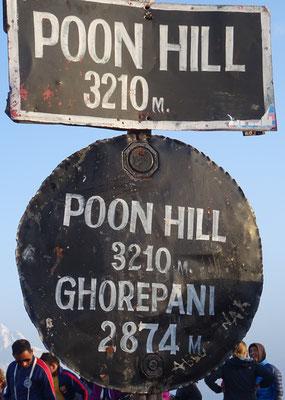 Wir sind auf dem Poon Hill...