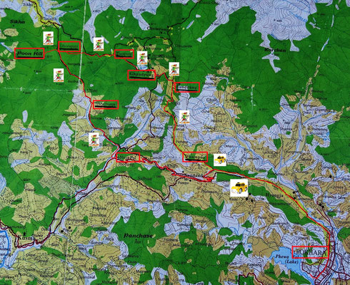 Unsere Wanderroute.....