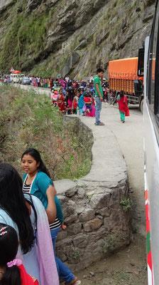 Es war nepalisches Neujahr mit vielen Pilgern....