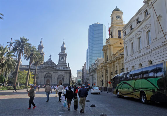Das Zentrum von Santiago.