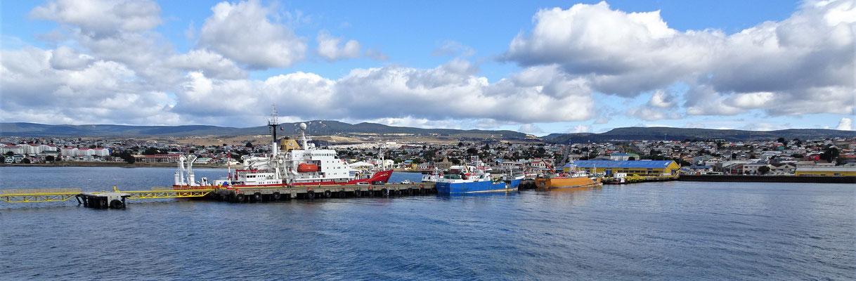 Punta Arenas kommt in Sichtweite.