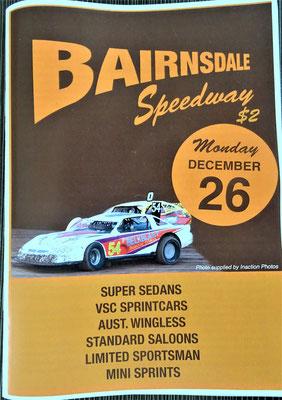 Das Autorennen in Bairnsdale.