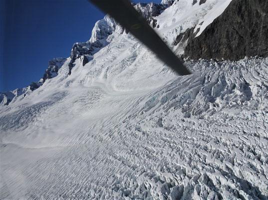 ....über den Fox Gletscher.
