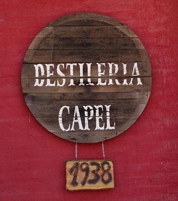 Besichtigung der Distellerie Capel......