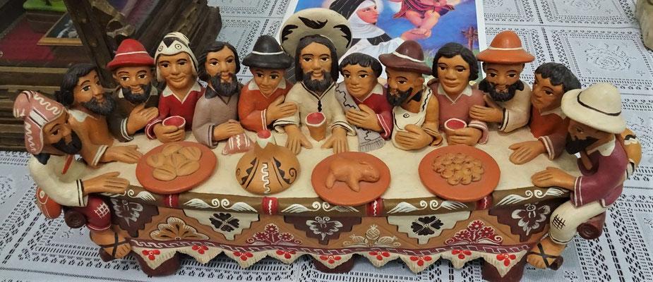 Da Abendmahl auf Peruanisch....