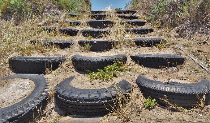 ....alte Reifen zu verwenden.