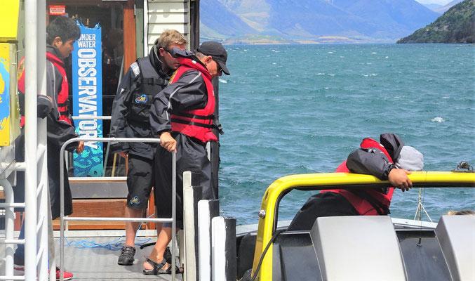 ....bevor er das Boot bestieg.